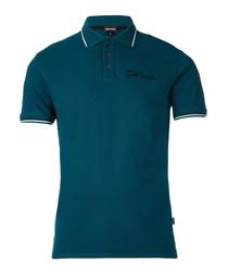 Deep lake logo polo shirt