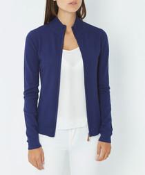 Blue cashmere blend cardigan