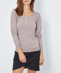 Desert cashmere long sleeve top