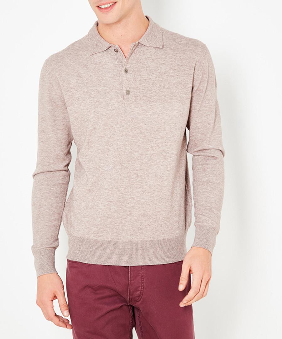 Men's desert cashmere polo neck jumper Sale - william de faye