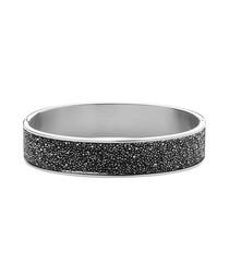 Shine silver-tone & grey crystal ring