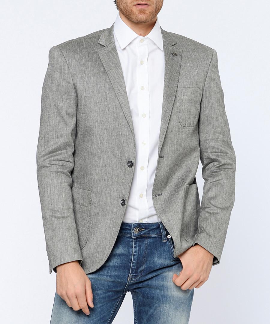 Grey linen & cotton blazer Sale - Dewberry