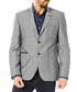 Anthracite linen blend two button blazer Sale - Dewberry Sale