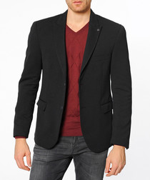 Black flap pocket blazer