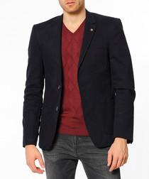 Dark blue two button blazer