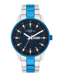 Rostra blue & silver-tone watch