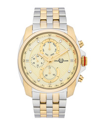 Super Racer silver-tone quartz watch