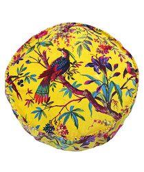 Paradise yellow pure cotton cushion
