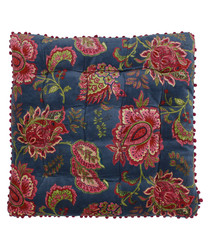 Malisa blue pure cotton cushion