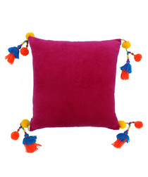 Poco fuchsia pure cotton cushion