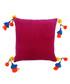 Poco fuchsia pure cotton cushion Sale - Riva Paoletti Sale