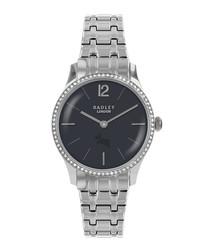 Millbank silver-tone steel link watch