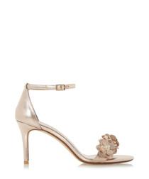 Magnolea rose gold-tone metallic heels