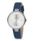 Silver-tone & blue leather watch Sale - daniel klein Sale