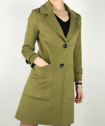 Green wool blend coat