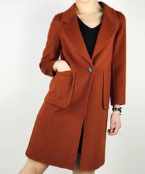 Ginger wool blend coat