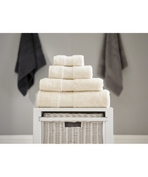 Bliss cream pure cotton bath sheet towel