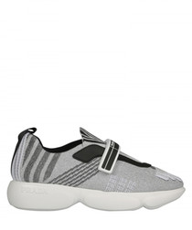 Cloudbust grey stripe sneakers