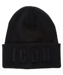 Men's blue wool lapel hat
