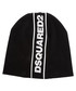 Black wool logo stripe beanie hat Sale - dsquared Sale