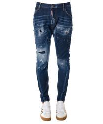 Men's blue cotton twist jeans