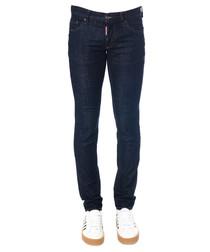 Men's black cotton slim jeans