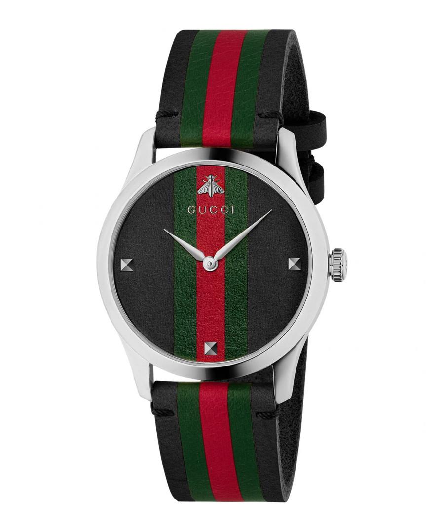 Multi-coloured steel logo watch Sale - gucci