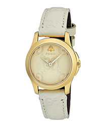 White & pink watch