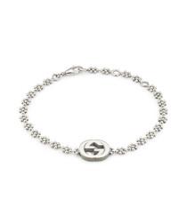 Sterling silver logo bracelet