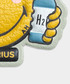 Aquarius Wink mustard leather sticker Sale - anya hindmarch Sale
