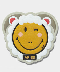 Aries Wink mustard leather sticker