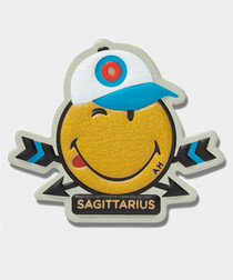 Sagittarius Wink leather sticker