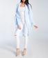 Powder blue wool blend drape cardigan Sale - fobya Sale