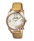 Cream leather & rose gold-tone bow watch Sale - bertha Sale
