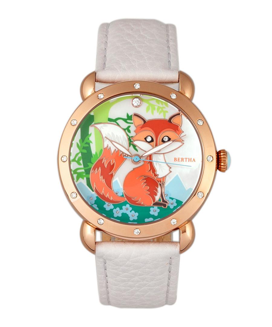 Vivica white leather fox watch Sale - bertha