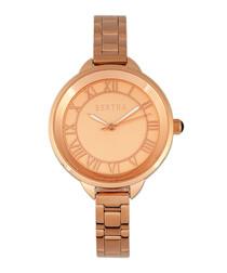 Madison rose gold-tone steel watch
