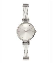 Amanda silver-tone steel narrow watch