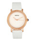 Courtney steel & white leather watch Sale - bertha Sale