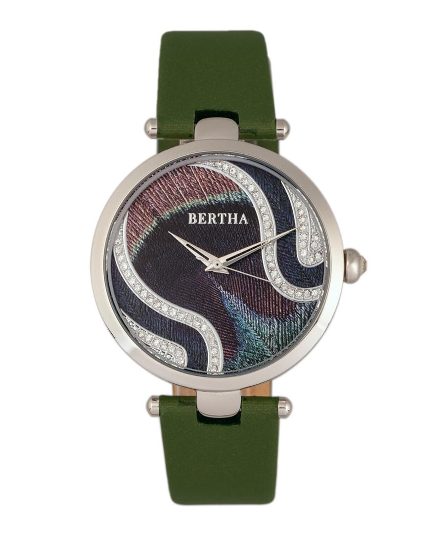 Trisha olive leather & steel watch Sale - bertha