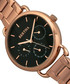 Gwen rose gold-tone steel & black watch Sale - bertha Sale