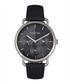Gwen silver-tone & black leather watch Sale - bertha Sale