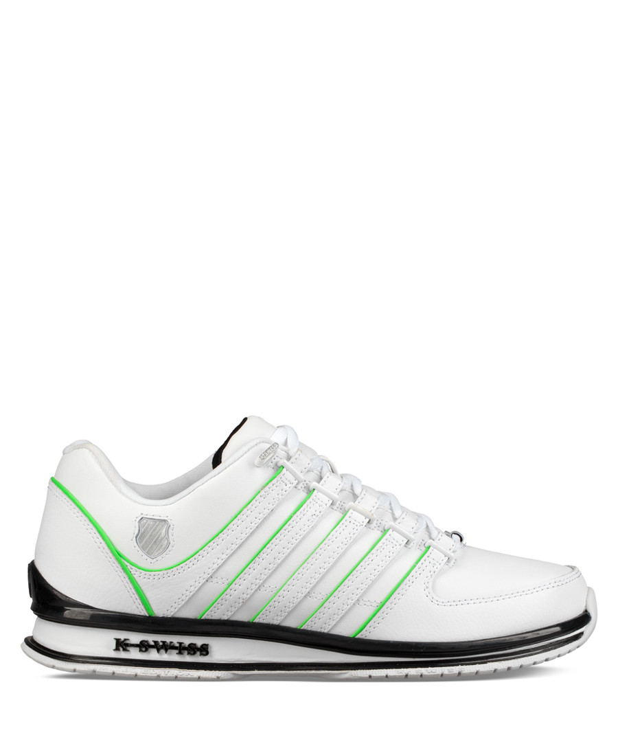 White & neon leather sneakers Sale - K-Swiss
