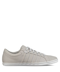 Grey & white leather sneakers