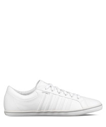 White & grey leather sneakers