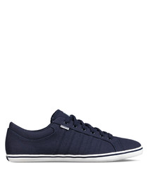 Navy & white leather sneakers
