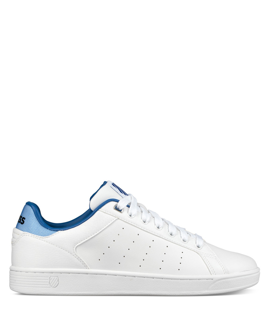 White & blue leather sneakers Sale - K-Swiss