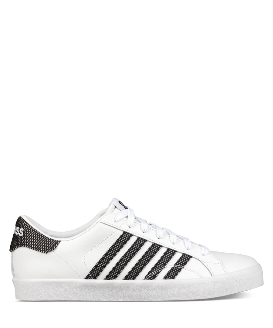 White & black leather sneakers Sale - K-Swiss