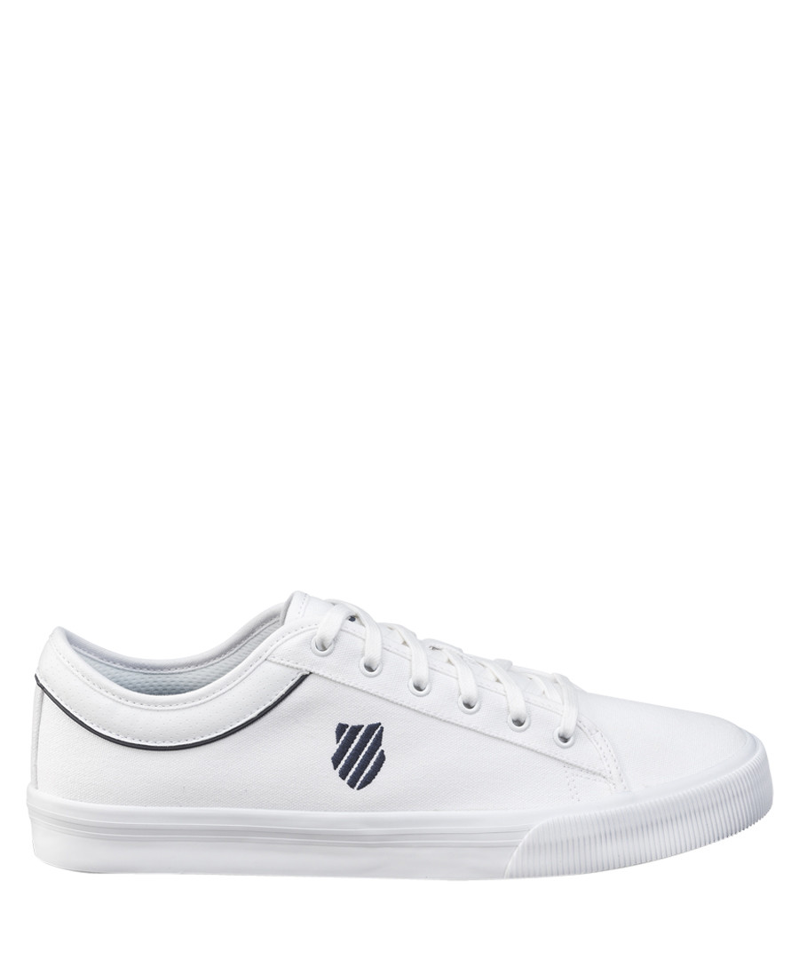 White & navy leather sneakers Sale - K-Swiss