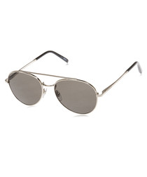 Grey round crossbar sunglasses