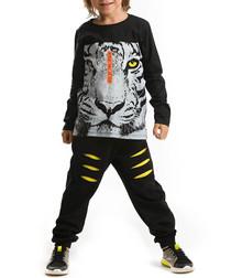 2pc boys' black tiger top & trousers set